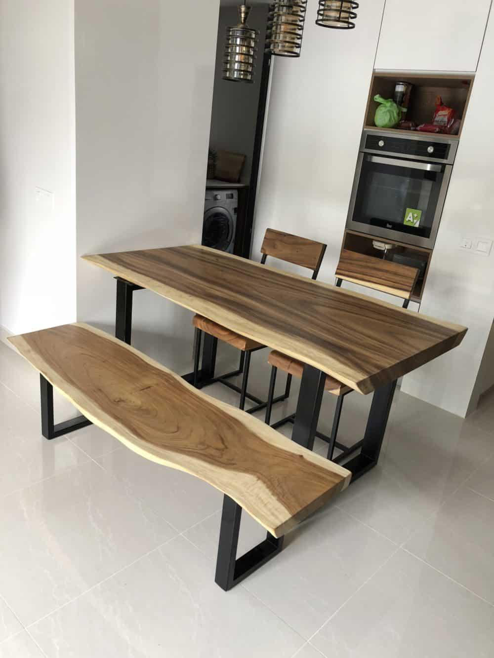 Suar Wood Dining Set