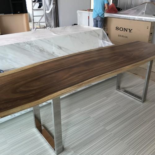 Suar wood long console table