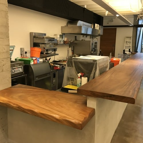 Suar Wood Bar Counter Table Top