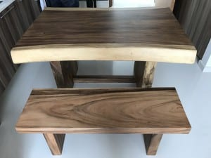 Suar Wood with Bench