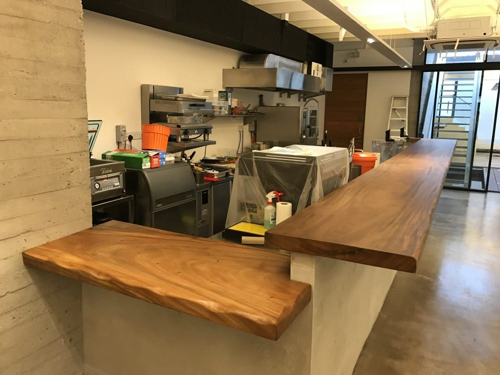 suar wood bar table