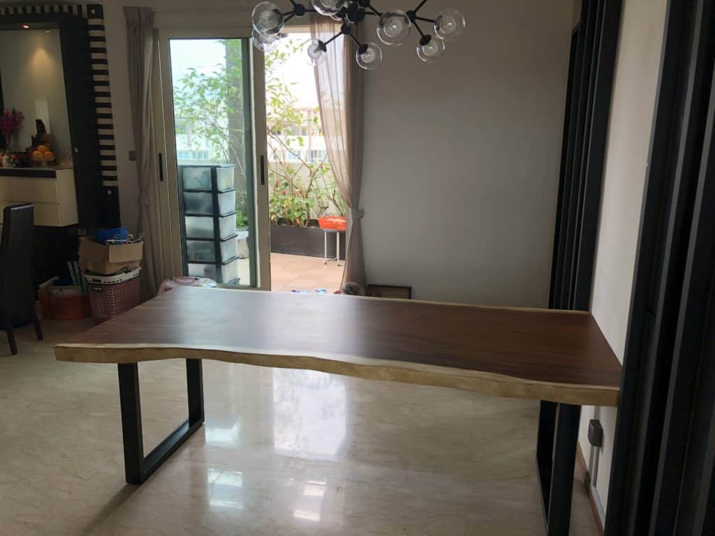 Natural Wooden Dining Table 1