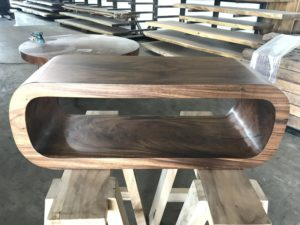 Oval Solid Wood Console